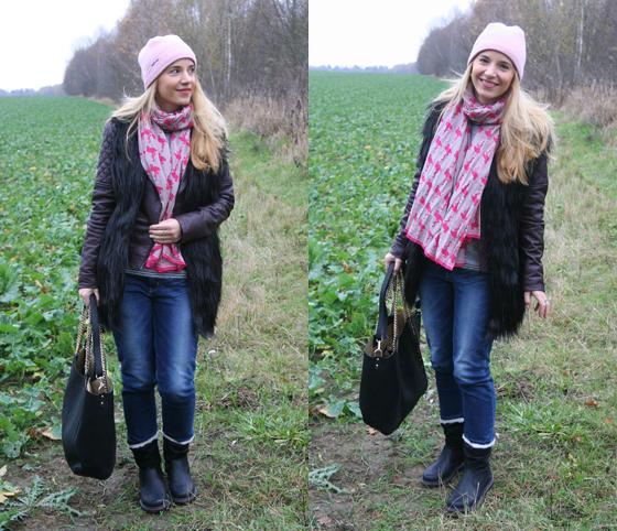 Laura Scott Weste und Tasche Outfit 08