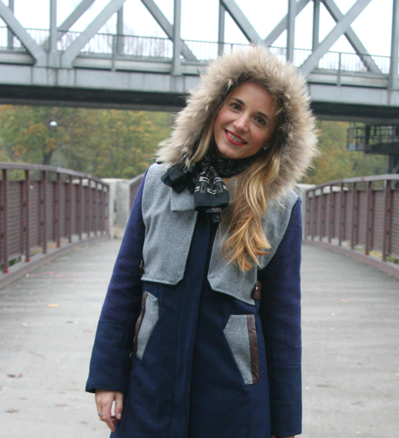 Outfit Blauer Mantel 04