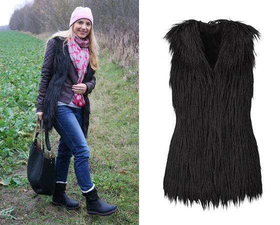 Laura Scott Kunstfellweste Outfit