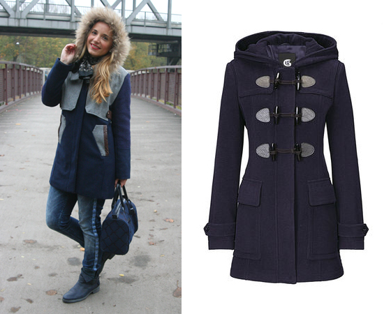 Outfit Blauer Mantel