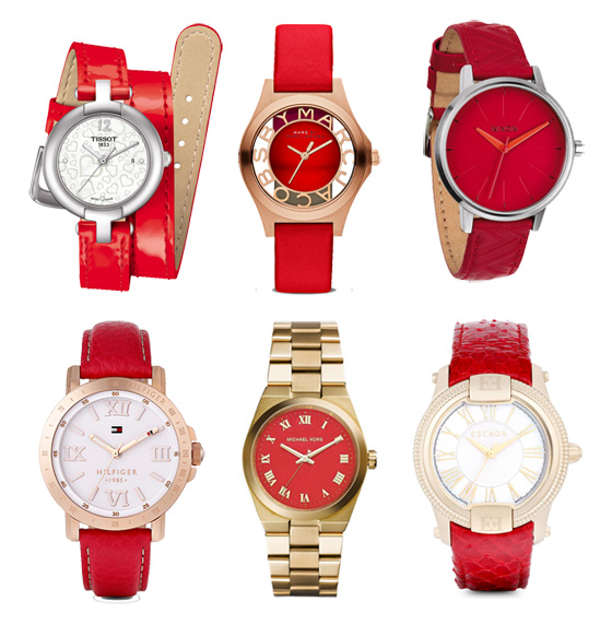 Rote Armbanduhren 02