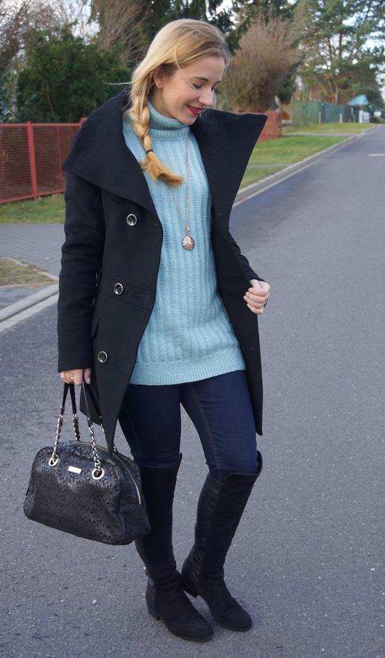 Outfit Rollkragen-Wollpullover 04