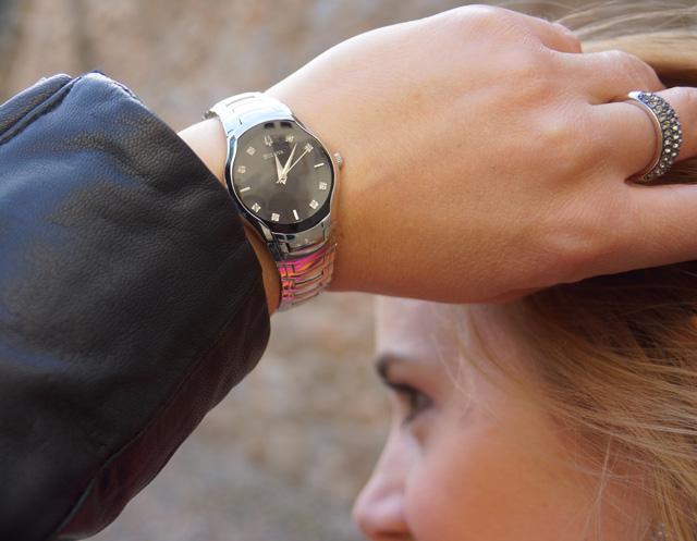 Bulova Diamant Uhr Outfit 05