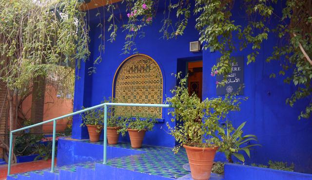 Yves Saint Laurent Garten Jardin Majorelle Marrakesch Marokko 02