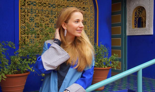Yves Saint Laurent Garten Jardin Majorelle Marrakesch Marokko 03