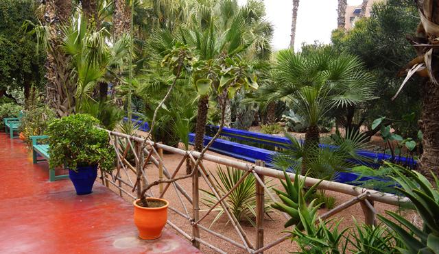 Yves Saint Laurent Garten Jardin Majorelle Marrakesch Marokko 04