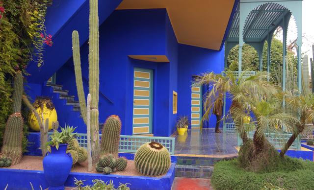 Yves Saint Laurent Garten Jardin Majorelle Marrakesch Marokko 07