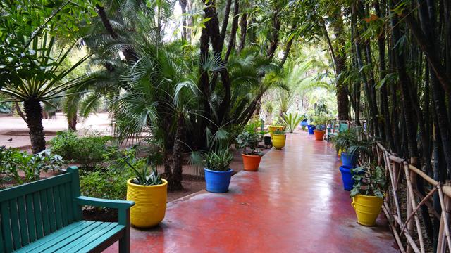 Yves Saint Laurent Garten Jardin Majorelle Marrakesch Marokko 09