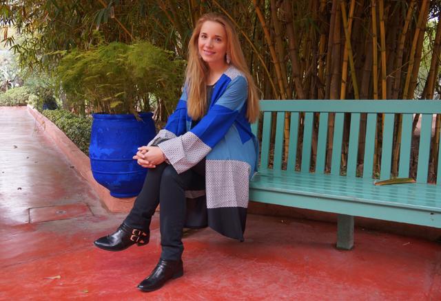 Yves Saint Laurent Garten Jardin Majorelle Marrakesch Marokko 10