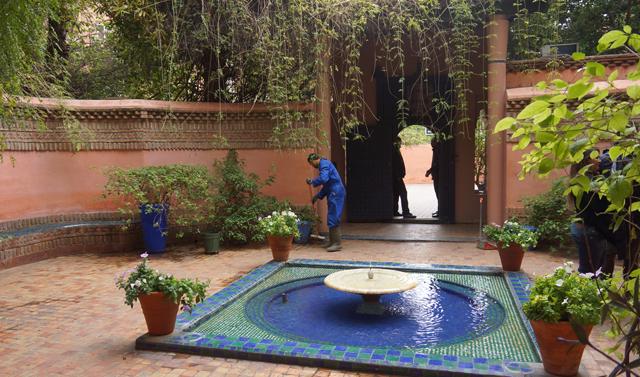 Yves Saint Laurent Garten Jardin Majorelle Marrakesch Marokko 11