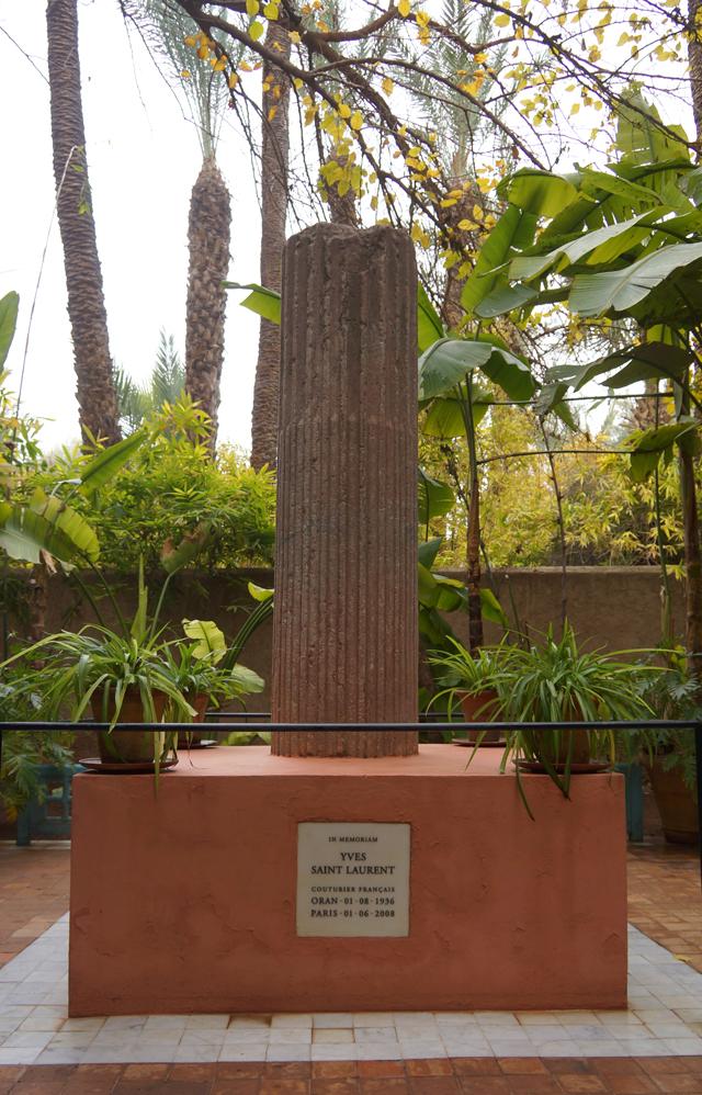 Yves Saint Laurent Garten Jardin Majorelle Marrakesch Marokko 12