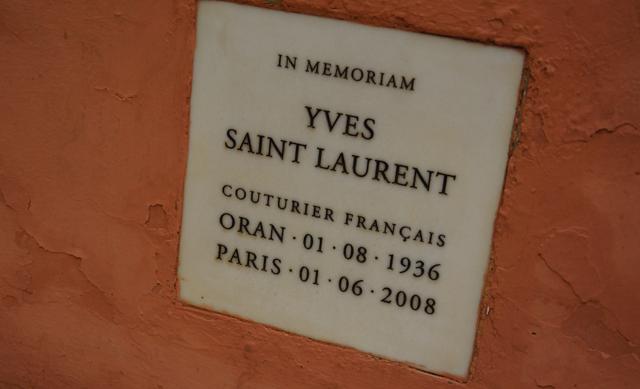 Yves Saint Laurent Garten Jardin Majorelle Marrakesch Marokko 13
