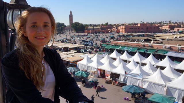 Marrakesch Marokko Platz Djemaa el Fna 01