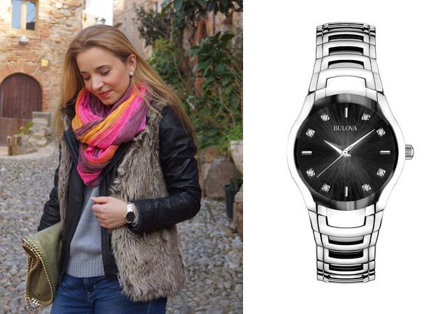 Outfit Bulova Black Uhr