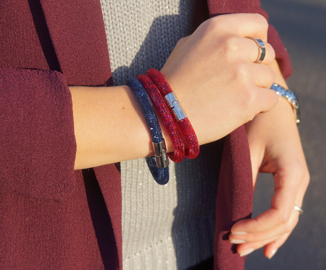Stardust Armband red Swarovski Outfit 04