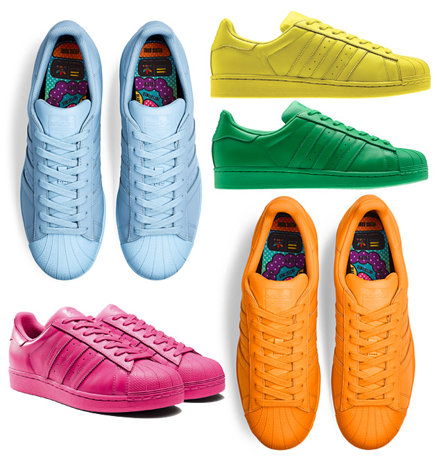 adidas Supercolors designed by Pharrell Williams frontlineshop