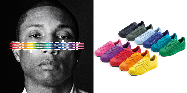 adidas Supercolors designed by Pharrell Williams