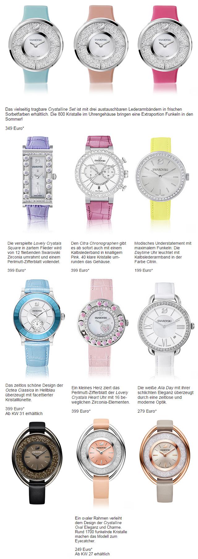 Die neue Swarovski Uhrenkollektion in Candy Colours 2015 01