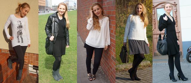 Outfitprojekt Schwarz-Weiß Outfit 11 bis 15