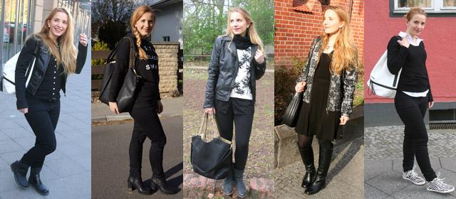 Outfitprojekt Schwarz-Weiß Outfit 16 bis 20