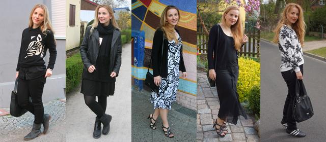 Outfitprojekt Schwarz-Weiß Outfit 21 bis 25
