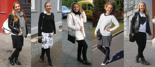 Outfitprojekt Schwarz-Weiß Outfit 26 bis 30