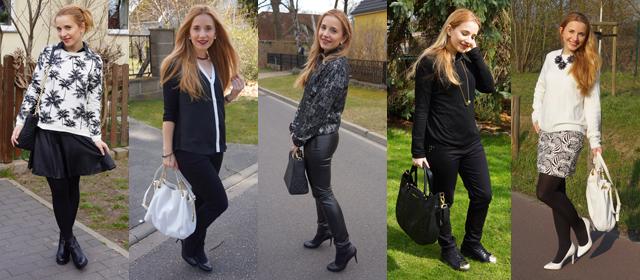 Outfitprojekt Schwarz-Weiß Outfit 6 bis 10