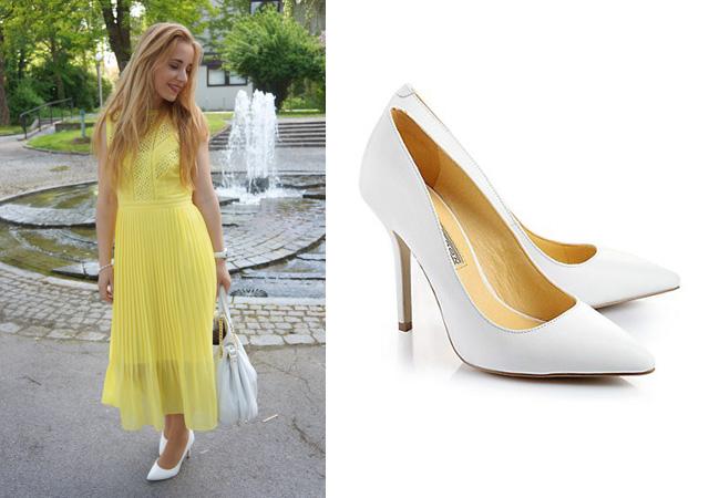 Outfit Gelbes Kleid Schuhe