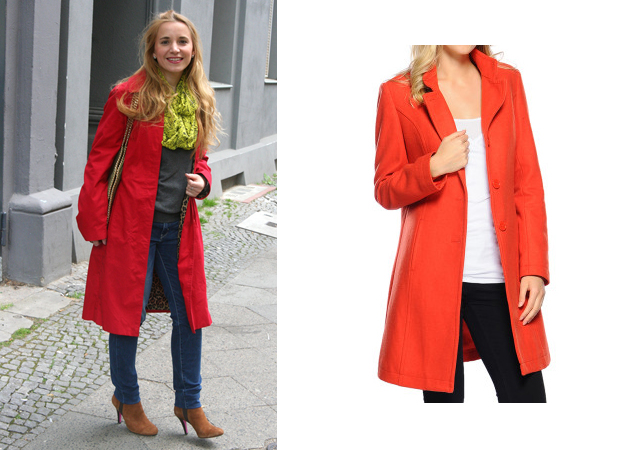 Outfit Roter Mantel