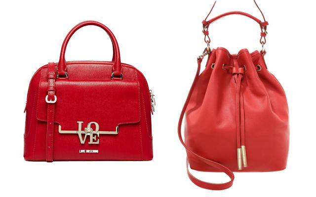Rote Handtaschen