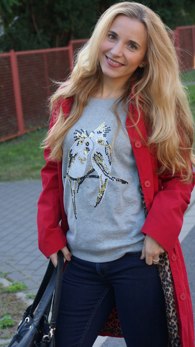 Outfit Pailletten-Papagei-Pullover AJC 03