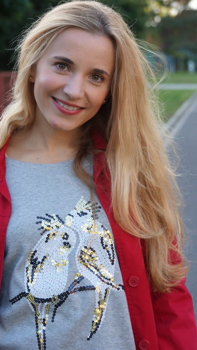 Outfit Pailletten-Papagei-Pullover AJC 07