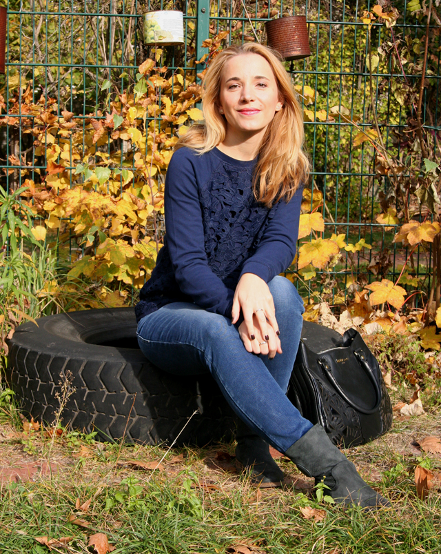 Outfit Boden Pullover mit Spitze 02