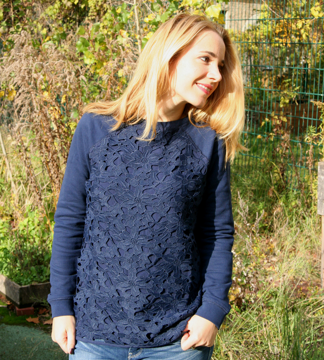 Outfit Boden Pullover mit Spitze 03
