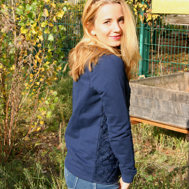 Outfit Boden Pullover mit Spitze 06