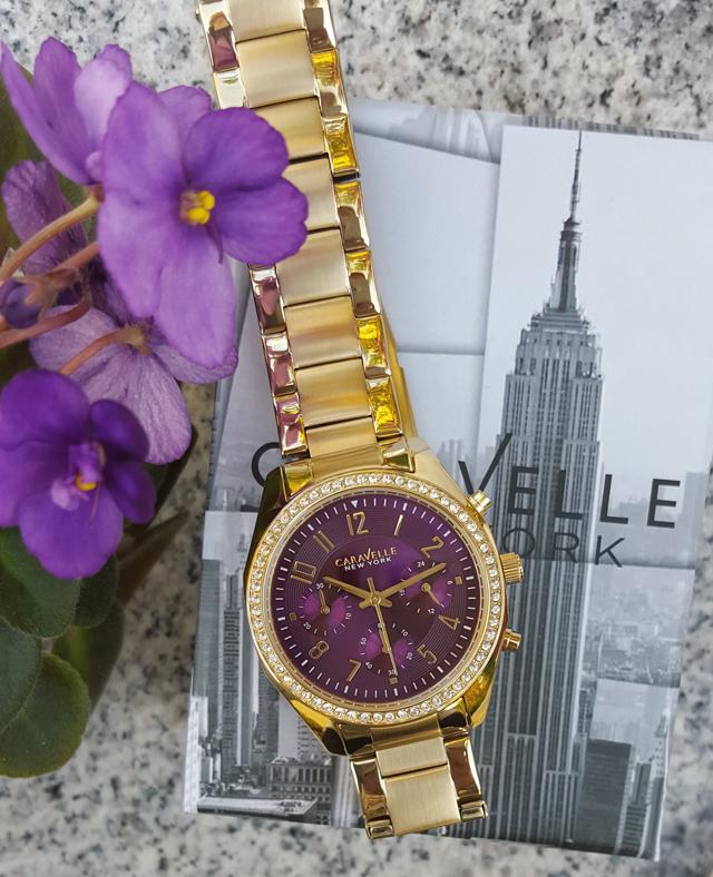 Purpur-strahlende Uhren von Caravelle New York 02