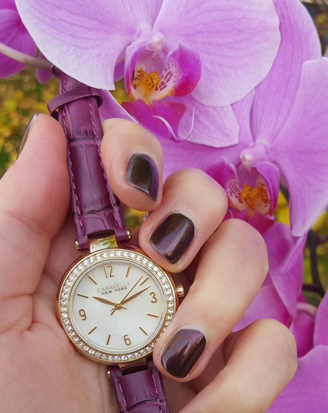 Purpur-strahlende Uhren von Caravelle New York 03
