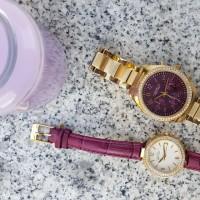 Purpur-strahlende Uhren von Caravelle New York 04