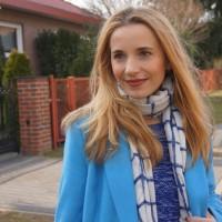 Outfit Blauer Mantel Bruno Banani 01