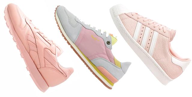 Sneaker Turnschuhe in Rose Quartz und Serenity