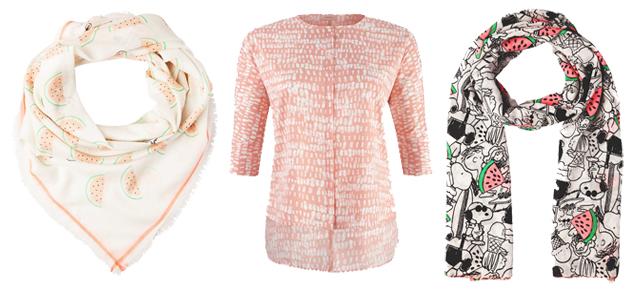 Kleidungsstücke mit Obst-Print