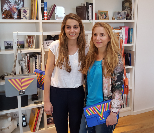 Designerin Lili Radu im Showroom in Berlin