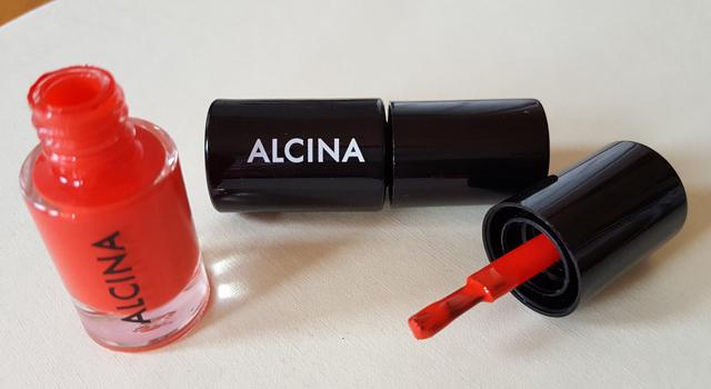 Glowing Summer sunset Nagellack Make-up Set von Alcina 02