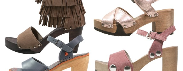 Sommer Schuh-Trend Holz-Clogs