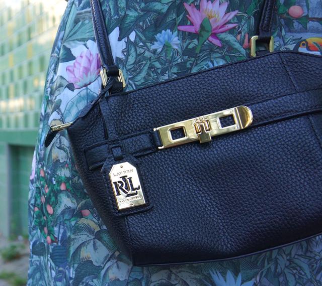 Outfit Maxikleid, Hut & Ralph Lauren Tasche 05