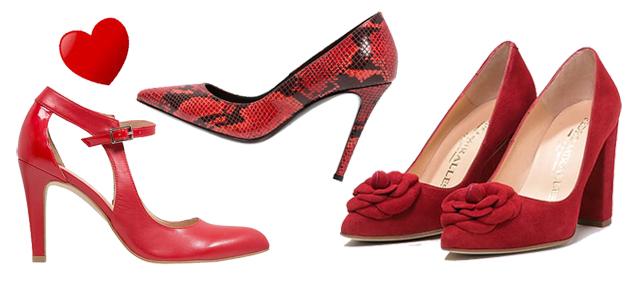 Rote Schuhe zum Valentinstag