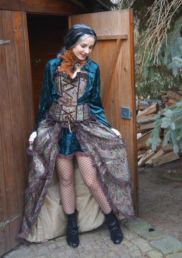Steampunk Lady Liza Kostüm von Kostüme com