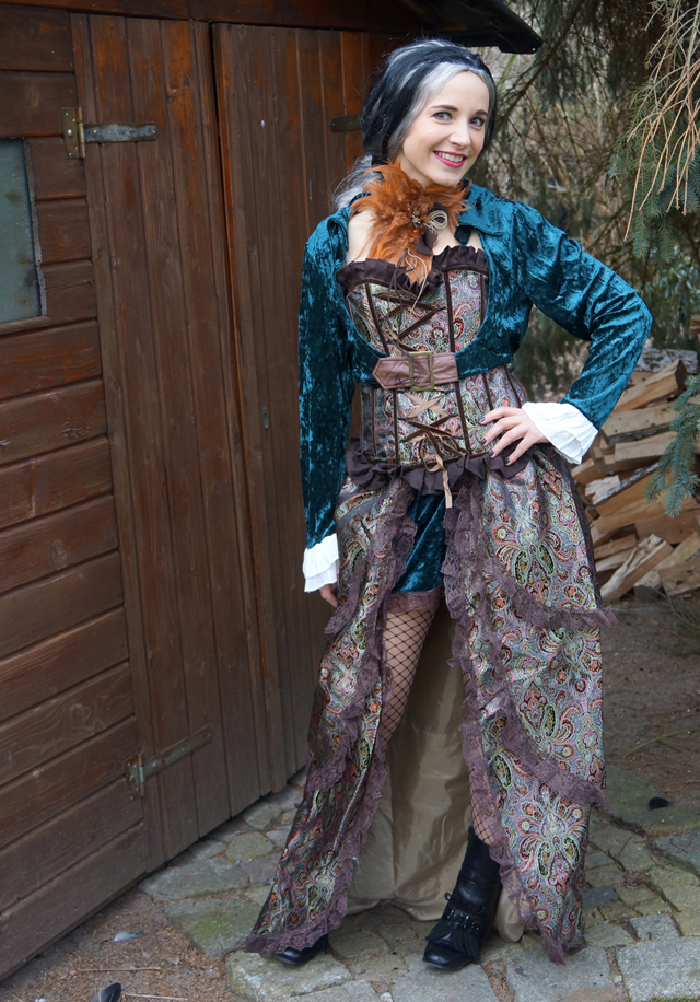 Steampunk Lady Liza Kostüm von Kostüme com 08
