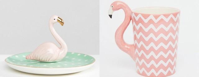 Flamingo Schmuckständer Tasse