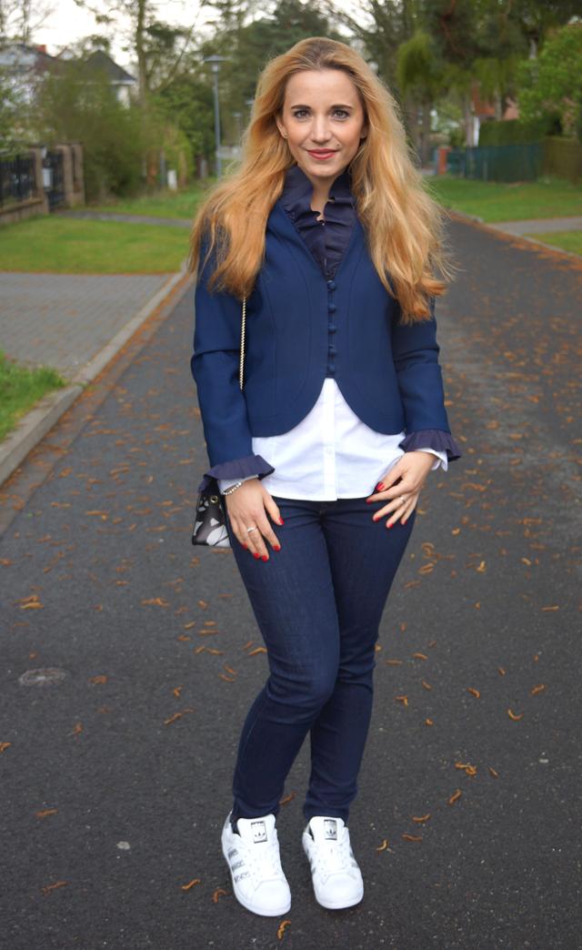 Outfit Vintage Blazer blau 02